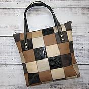 """Женская сумка - Yulada Bag """"Печворк-колор""""(L"""