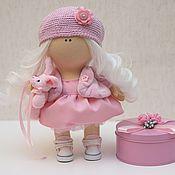 Куклы и игрушки ручной работы. Ярмарка Мастеров - ручная работа Интерьерная кукла в розовой одежде. Handmade.