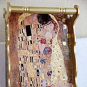 """Для дома и интерьера ручной работы. Ярмарка Мастеров - ручная работа Большой поднос """"Золотое тепло поцелуя"""". Handmade."""