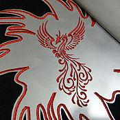 Одежда ручной работы. Ярмарка Мастеров - ручная работа Светоотражающие нашивки на спину Птица Шеврон на заказ Подарок мужчине. Handmade.