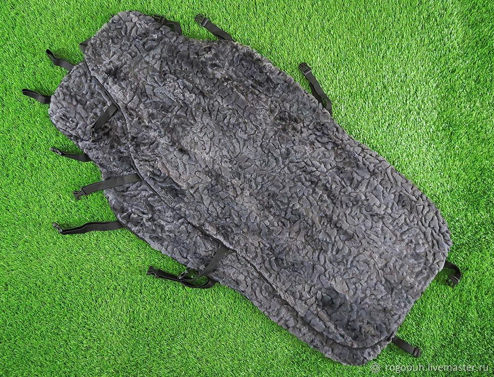 Fur capes made of sheepskin 'mosaic', 2 PCs. (No. №720), Car souvenirs, Nalchik,  Фото №1