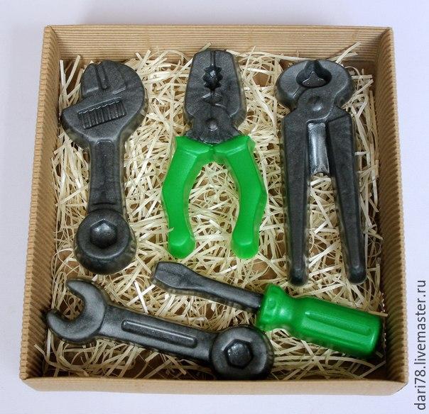 """Мыло ручной работы. Ярмарка Мастеров - ручная работа. Купить Подарочный набор мыла """"Инструменты"""". Handmade. Ключ, инструменты"""