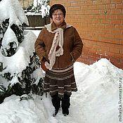 Одежда ручной работы. Ярмарка Мастеров - ручная работа Юбка вязаная зимняя Овечья  1. Handmade.