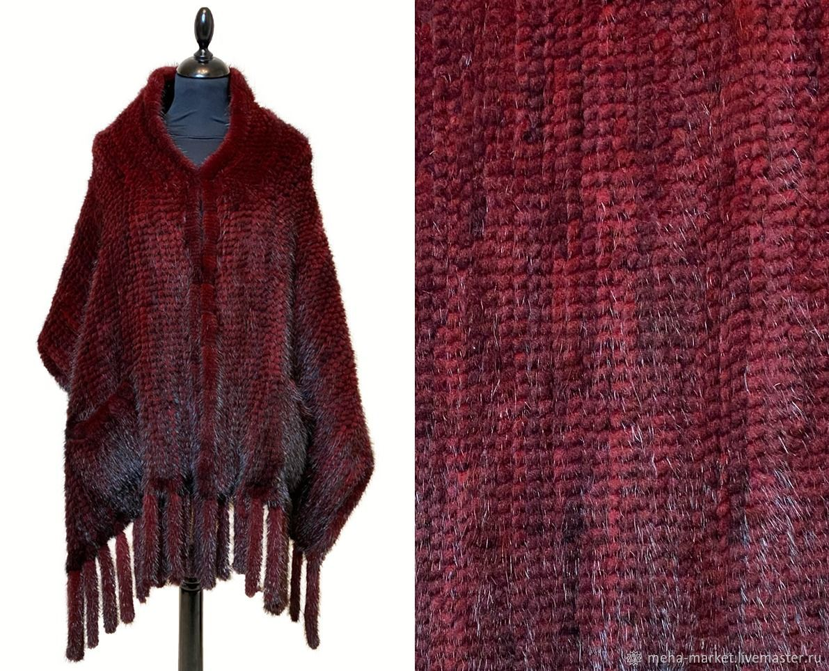 Cheggu Knitted Mink Stole, Wraps, Moscow,  Фото №1