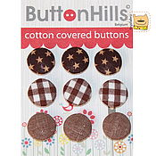 Набор пуговиц ButtonHills обтянутые хлопковые 18мм BH34