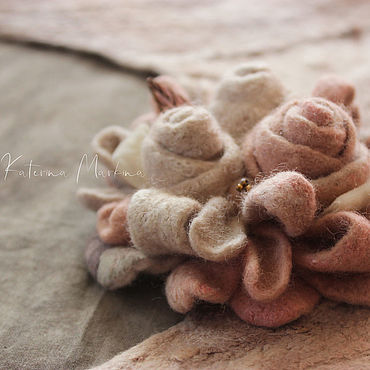 Decorations handmade. Livemaster - original item brooches: Felt brooch
