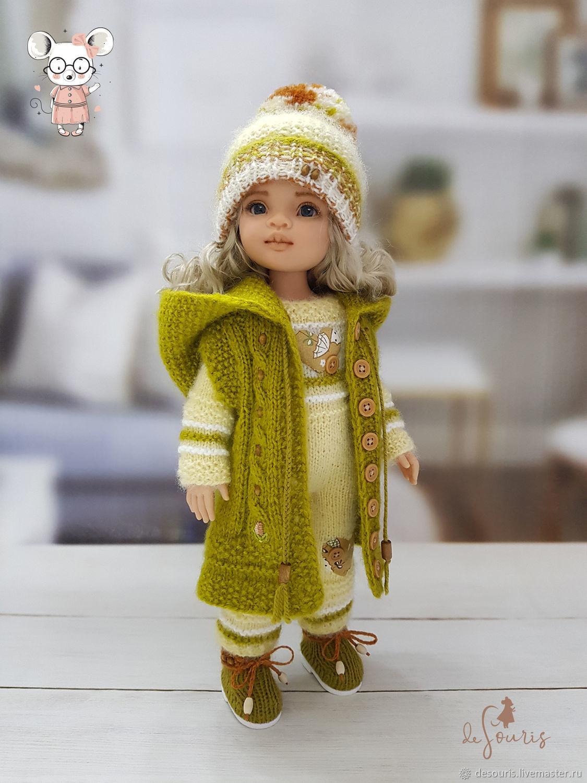 Одежда для кукол Паола Рейна. Оливково-жёлтый набор с капюшоном, Одежда для кукол, Воронеж,  Фото №1