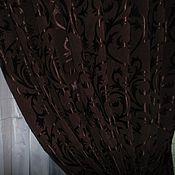 Для дома и интерьера ручной работы. Ярмарка Мастеров - ручная работа шторы в гостинную горький шоколад. Handmade.