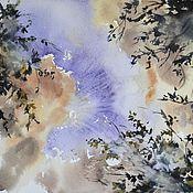 """Картины и панно ручной работы. Ярмарка Мастеров - ручная работа Картина акварелью """"Бездонное, летнее небо"""". Handmade."""