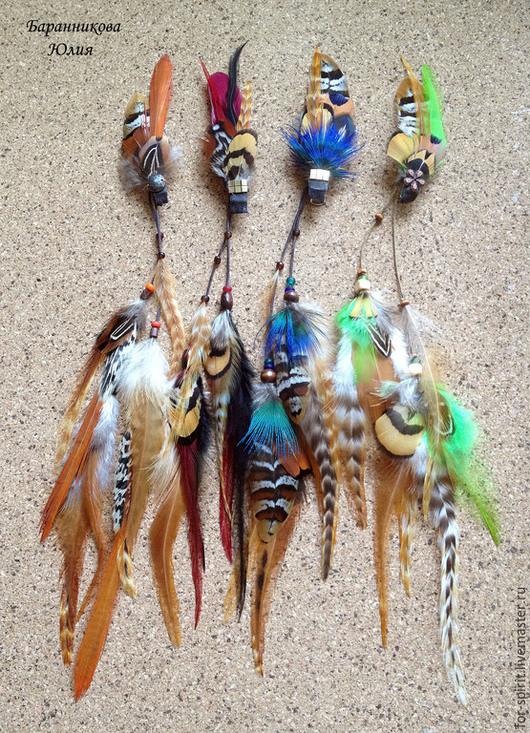 """Заколки ручной работы. Ярмарка Мастеров - ручная работа. Купить Заколки для волос """"Покахонтас"""". Handmade. Рыжий, бохо шик, радость"""