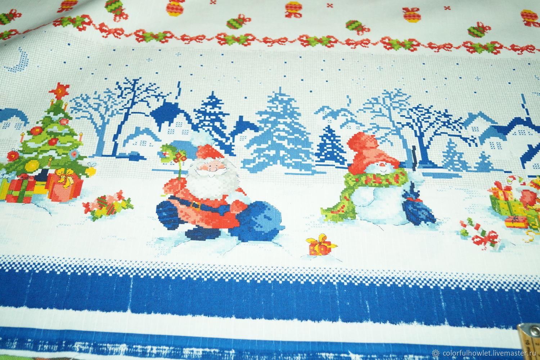 Ткань: УЦЕНКА ТКАНИ!!! МЕРНЫЙ ЛОСКУТ! Новогодняя чесуча 100% хлопок, Ткани, Иваново,  Фото №1