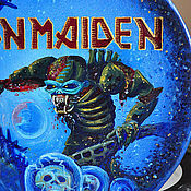 Тарелки ручной работы. Ярмарка Мастеров - ручная работа тарелки Iron Maiden. Handmade.