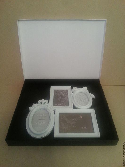 Персональные подарки ручной работы. Ярмарка Мастеров - ручная работа. Купить Коробка для картин, фоторамок. Handmade. Черный, белый цвет