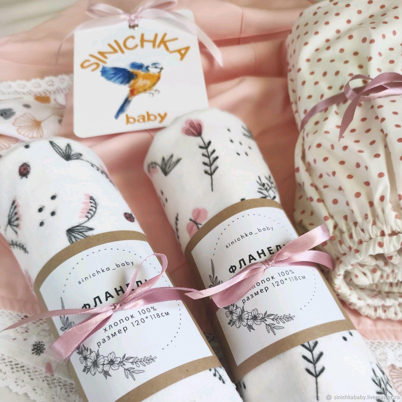 """Комплект в кроватку из 5 предметов """"Cute Baby Girl"""", Детское постельное белье, Краснодар,  Фото №1"""