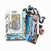Блокноты ручной работы. Ярмарка Мастеров - ручная работа Блокнот для путешествий (Travel book) на кольцах. Handmade.