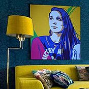 Картины и панно handmade. Livemaster - original item The order of a portrait in the style of pop art, colorful, modern, wall. Handmade.