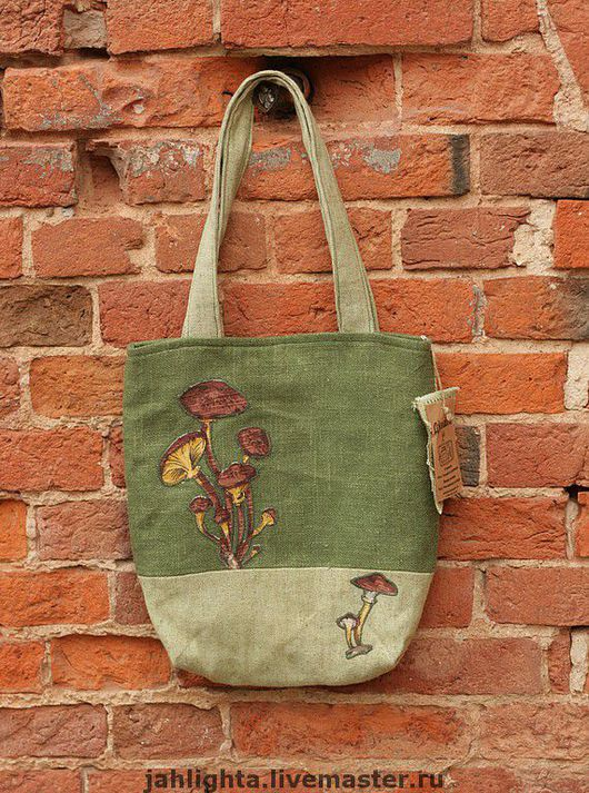 Bags & Accessories handmade. Livemaster - handmade. Buy Eco-bag 'Autumn mushrooms'.
