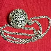 Vintage pendants handmade. Livemaster - original item Silver chain with filigree ball. Handmade.
