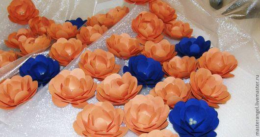 Свадебные аксессуары ручной работы. Ярмарка Мастеров - ручная работа. Купить Бумажные цветы для украшения интерьера. Handmade. Коралловый