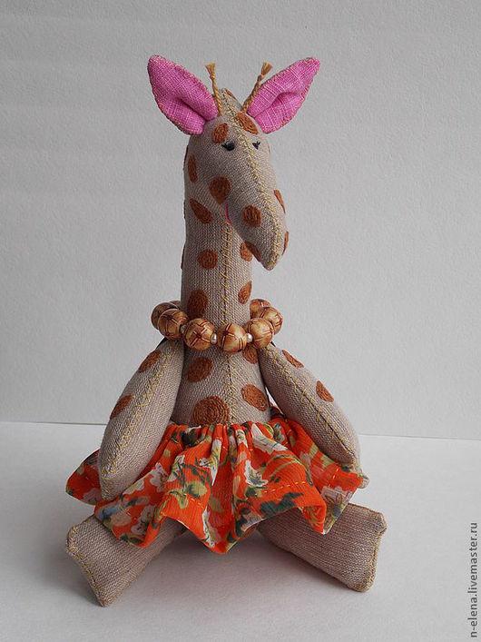 Игрушки животные, ручной работы. Ярмарка Мастеров - ручная работа. Купить Игрушка Жирафа.. Handmade. Игрушка, ручная вышивка