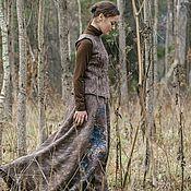 Юбки ручной работы. Ярмарка Мастеров - ручная работа Юбка макси, авторская теплая юбка, длинная юбка, романтичная юбкаСойка. Handmade.