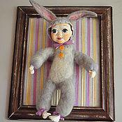 """Куклы и игрушки ручной работы. Ярмарка Мастеров - ручная работа Кукла в рамочке """"Зайка"""". Handmade."""