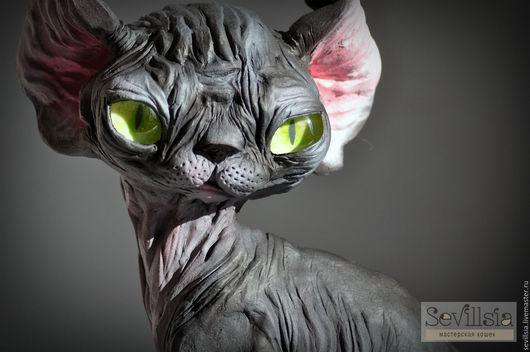 Figurines handmade. Livemaster - handmade. Buy Patrick, the Sphinx elf.Dark gray, sevillsia, black, lacquer