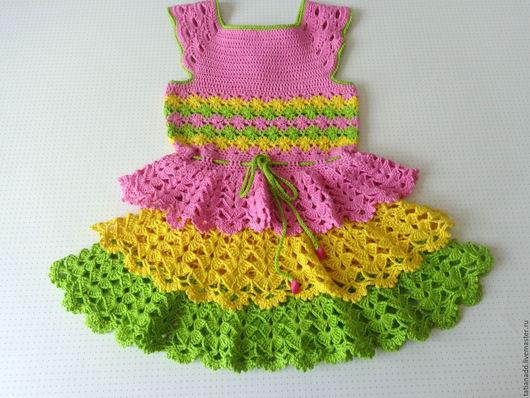 """Одежда для девочек, ручной работы. Ярмарка Мастеров - ручная работа. Купить Платье для девочки""""Летнее настроение"""". Handmade. Платье нарядное"""