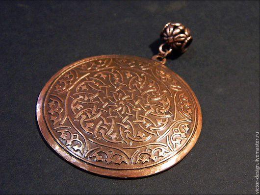 Кулоны, подвески ручной работы. Ярмарка Мастеров - ручная работа. Купить Кулон из меди в персидском стиле. Handmade. Коричневый