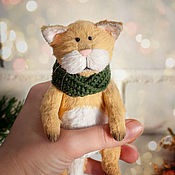 Куклы и игрушки ручной работы. Ярмарка Мастеров - ручная работа Котик Мандарин. Handmade.