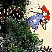 Новогодние сувениры ручной работы. Ярмарка Мастеров - ручная работа Рождественский ангелочек с арфой. Handmade.