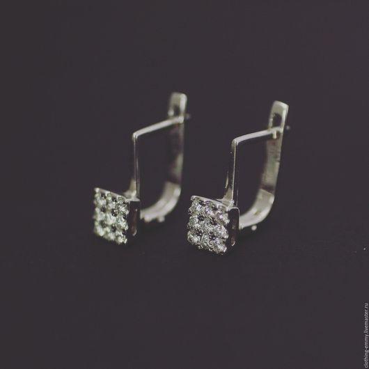 Серьги ручной работы. Ярмарка Мастеров - ручная работа. Купить Золотые серьги с бриллиантами. Handmade. Золотой, серьги ручной работы