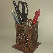 Канцелярские товары handmade. Livemaster - original item Stand for pens or kitchen utensils. Handmade.