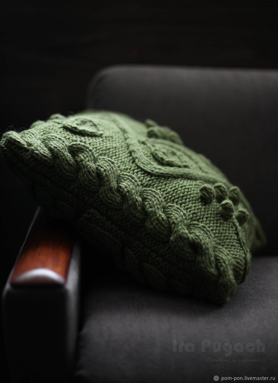 Pistachio pillow knitted Pillow decorative Pillow on the sofa, Pillow, Volgograd,  Фото №1