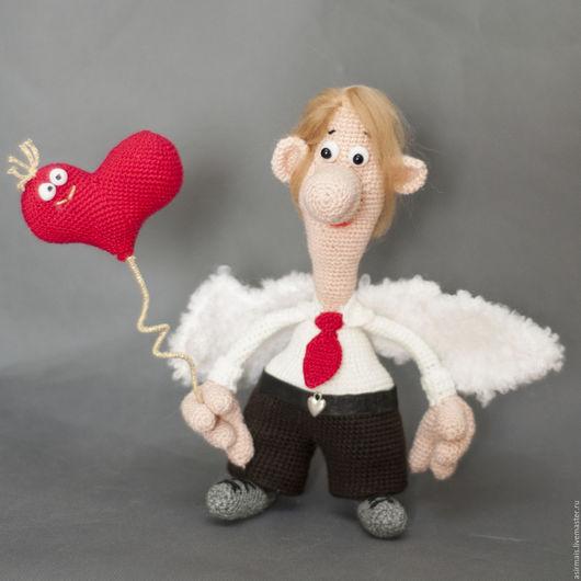 Человечки ручной работы. Ярмарка Мастеров - ручная работа. Купить Ангел  хранитель любви. Handmade. Ярко-красный, ангел
