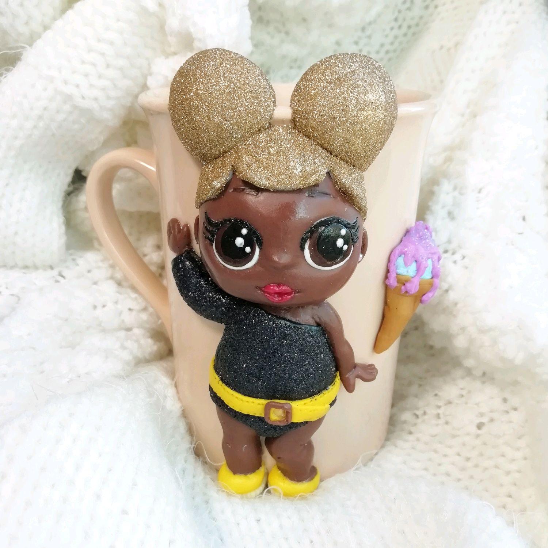 Кружка с декором из полимерной глины кукла LOL, Кружки, Краснодар,  Фото №1