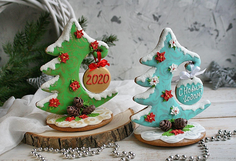 Пряничная новогодняя елочка с подвеской, Пряники, Москва,  Фото №1
