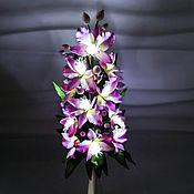 handmade. Livemaster - original item Flower night light orchids