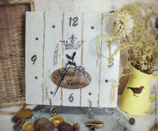 Часы для дома ручной работы. Ярмарка Мастеров - ручная работа. Купить Часы Sweet Home. Handmade. Серый, винтажные часы