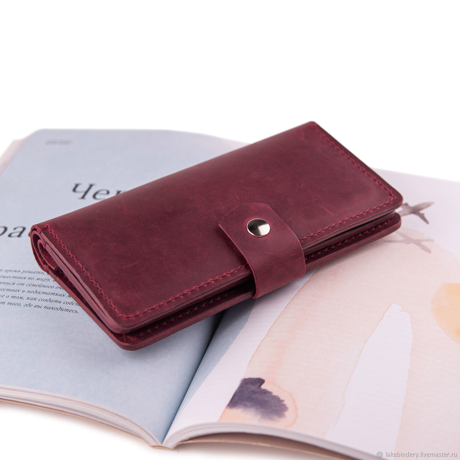 Genuine leather purse with 11 compartments sewn by hand seam, Purse, Moscow,  Фото №1
