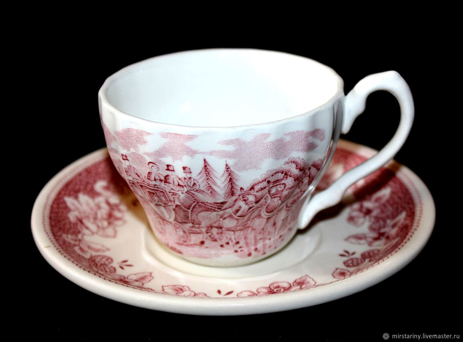 Coffee vintage pair of Staffordshire porcelain, England, Vintage sets, Moscow,  Фото №1
