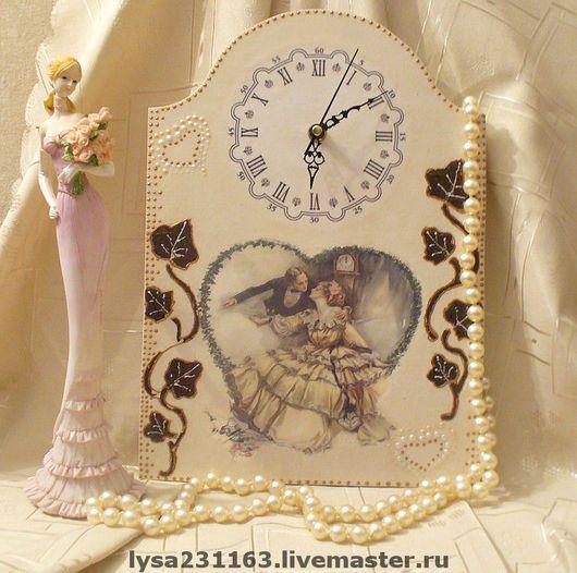 """Часы для дома ручной работы. Ярмарка Мастеров - ручная работа. Купить Часы """"Флирт"""". Handmade. Декупаж, гостиная, часы"""