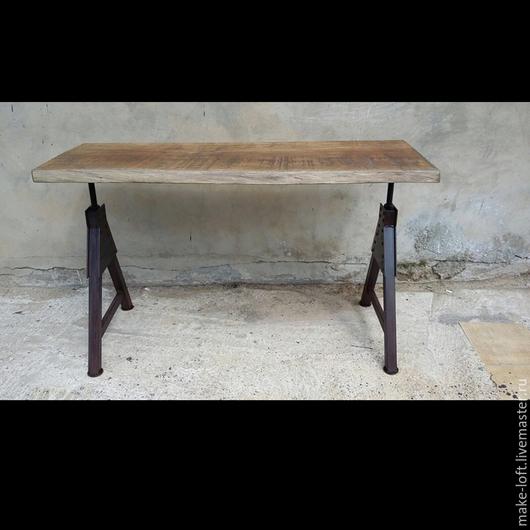 Мебель ручной работы. Ярмарка Мастеров - ручная работа. Купить Стол письменный (компьютерный) ручной работы в стиле Лофт. Handmade.