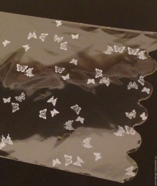 Упаковка ручной работы. Ярмарка Мастеров - ручная работа. Купить Пакет прозрачный для упаковки с белым рисунком Бабочки, 20 Х 29 см. Handmade.