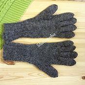 Аксессуары handmade. Livemaster - original item Knitted gloves grey goat down, 119. Handmade.