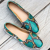 Обувь ручной работы handmade. Livemaster - original item Espadrilles made of natural Python skin. Shoes from Python. Handmade.