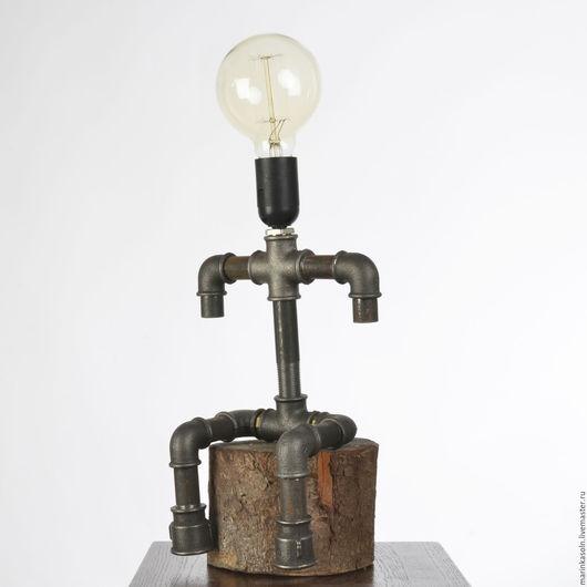 Освещение ручной работы. Ярмарка Мастеров - ручная работа. Купить Светильник в стиле лофт Человечки. На берегу Е27 Из водопроводных труб. Handmade.