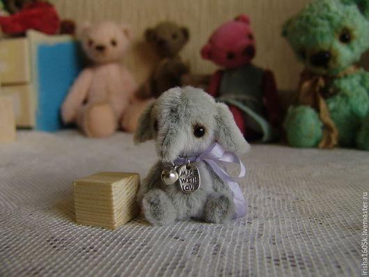 Мишки Тедди ручной работы. Ярмарка Мастеров - ручная работа. Купить Слоня. Handmade. Слоник, тедди слоник, серый, синтепух