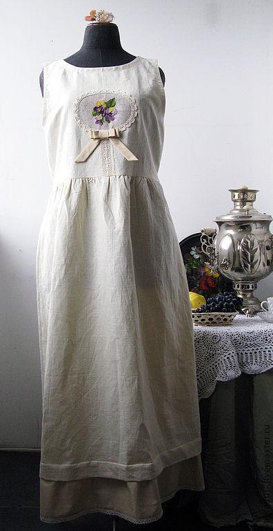 """Платья ручной работы. Ярмарка Мастеров - ручная работа. Купить Платье """"Грушевое с фиалками"""". Handmade. Авторское платье, винтажный стиль"""