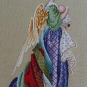 """Картины и панно ручной работы. Ярмарка Мастеров - ручная работа Вышитая картина """"В руках ангела"""". Handmade."""